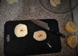 Chopping quinces