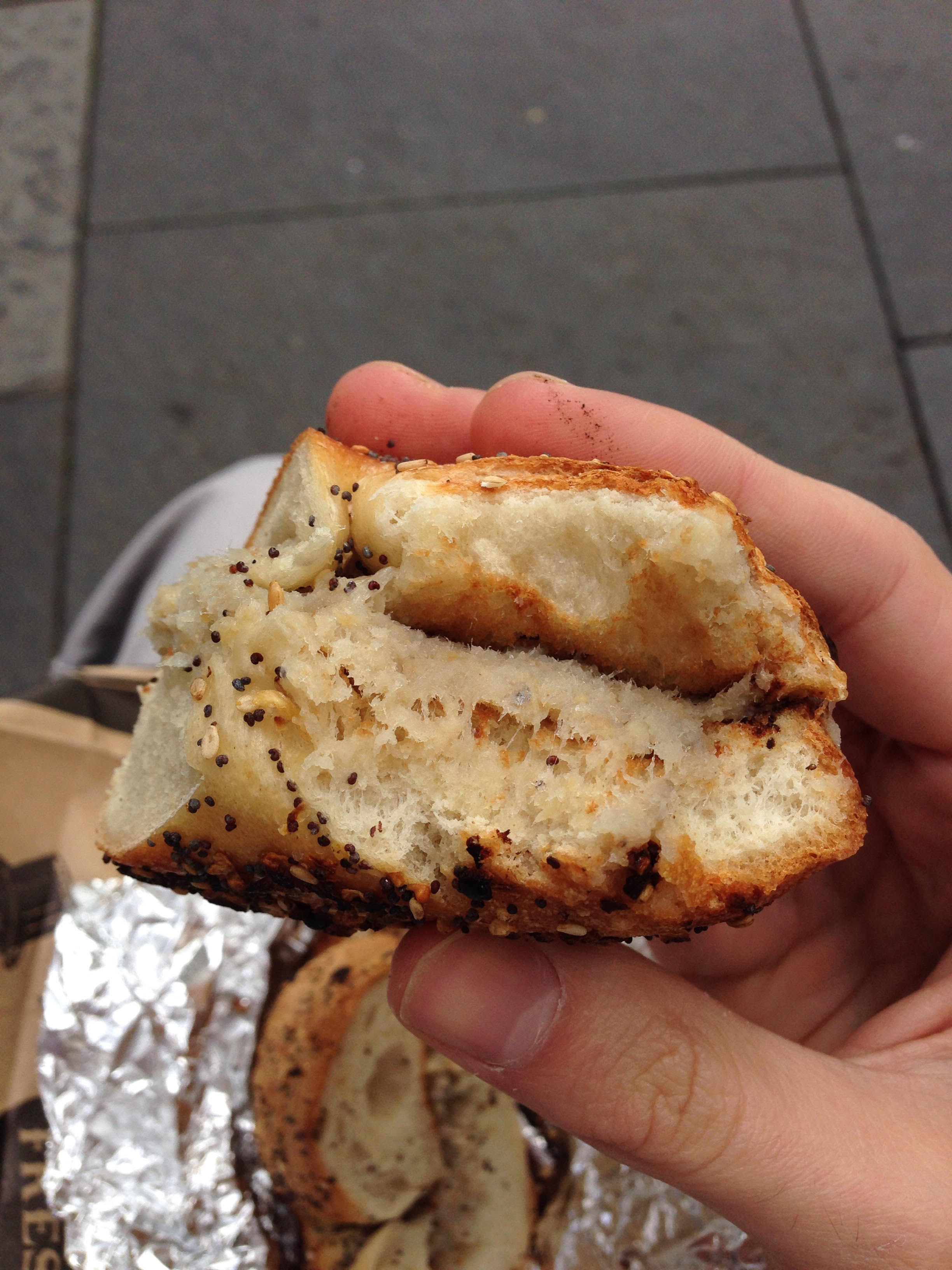 Everything bagel with chopped herring