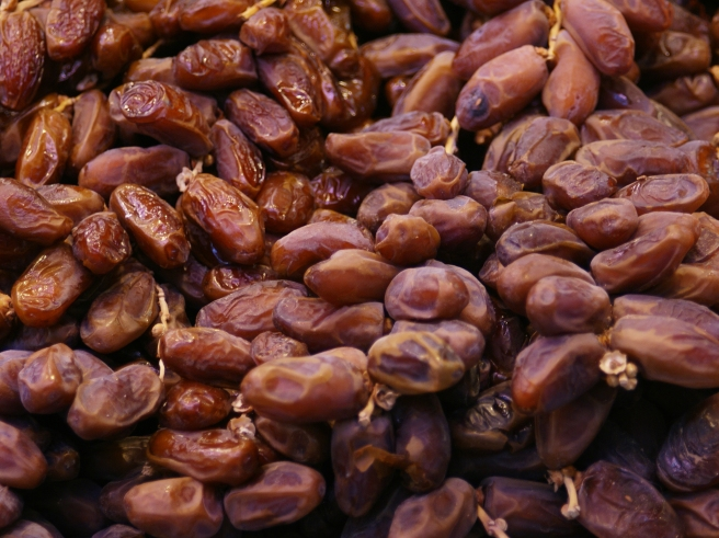A pile of dates