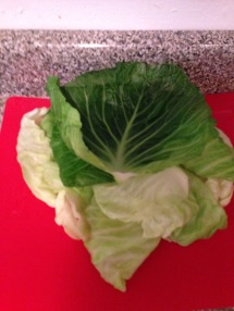 Softened cabbage leaves