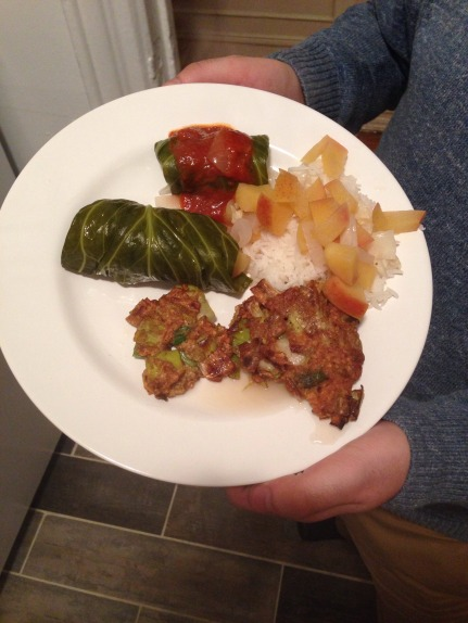 Stuffed cabbage on a plate