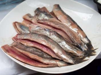 Soused herring in the Netherlands.