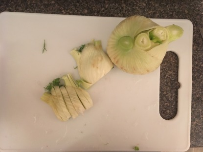 Chopping fennel