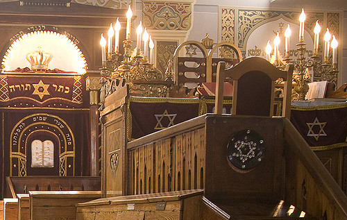 Interior of The synagogue in Tbilisi, capital of Georgia.
