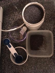 Poppy seeds being ground