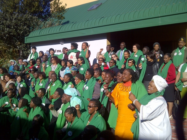 Domestic workers in South Africa at the launch of the African Domestic Worker's Network