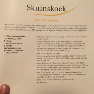 Skuinskoek recipe in Afrikaans