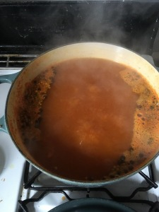 Making the orange brine