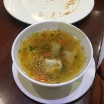 Pelmeni dumplings in broth