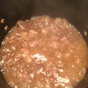 Stewing the meat