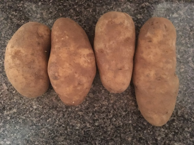 Potatoes on the counter
