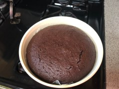 Cooling cake on stove